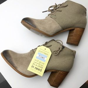TOMS Lace Up Booties in Size 12 NWT